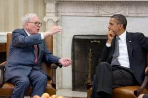 Warren Buffett und Barack Obama im Weißen Haus, Quelle: Wikipedia