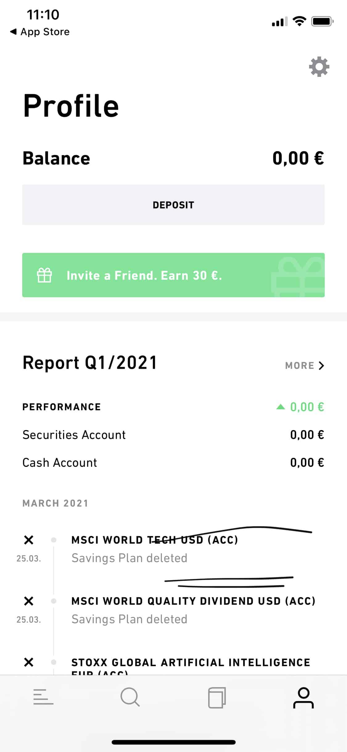 Trade Republic Einzahlung 1