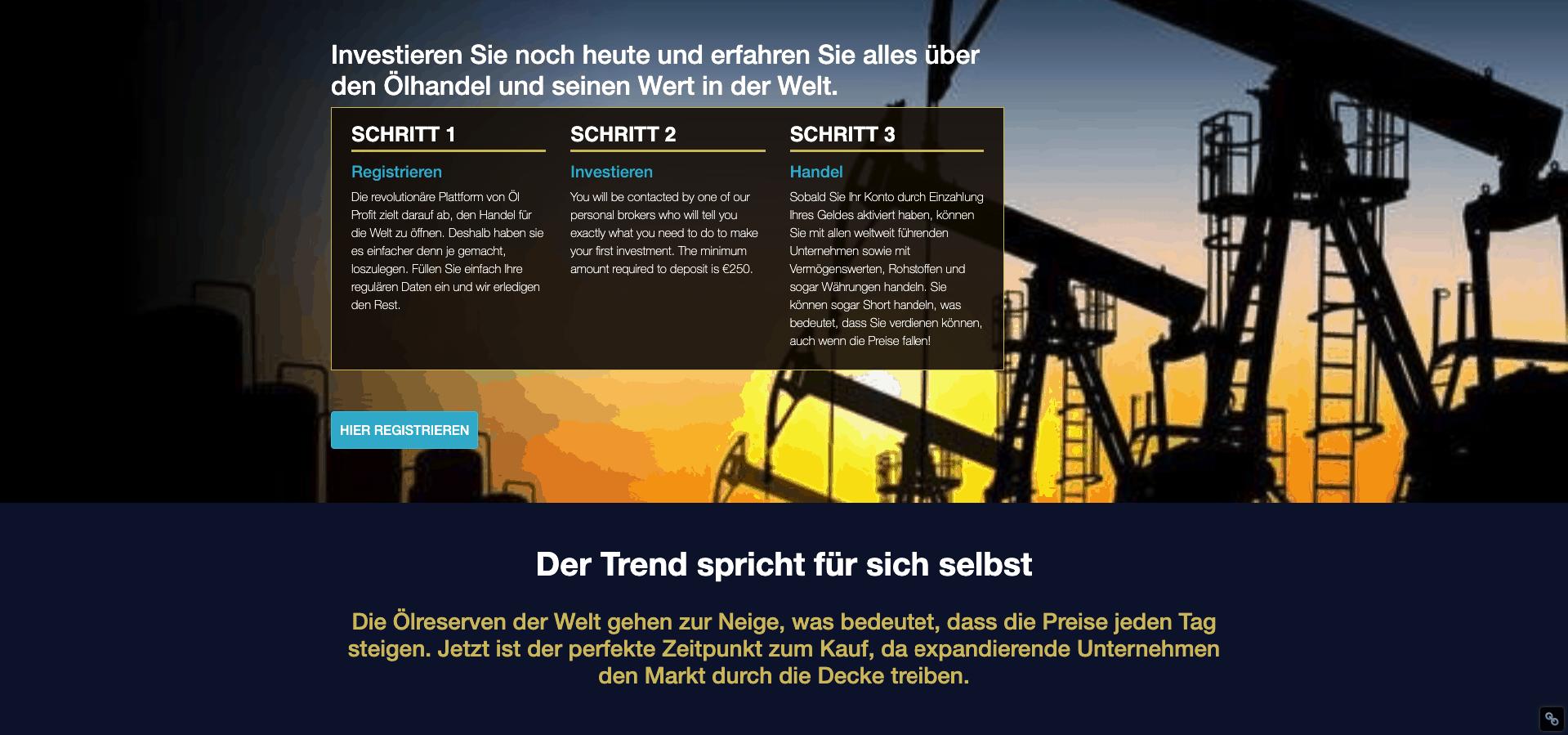 Wie funktioniert oil profit?