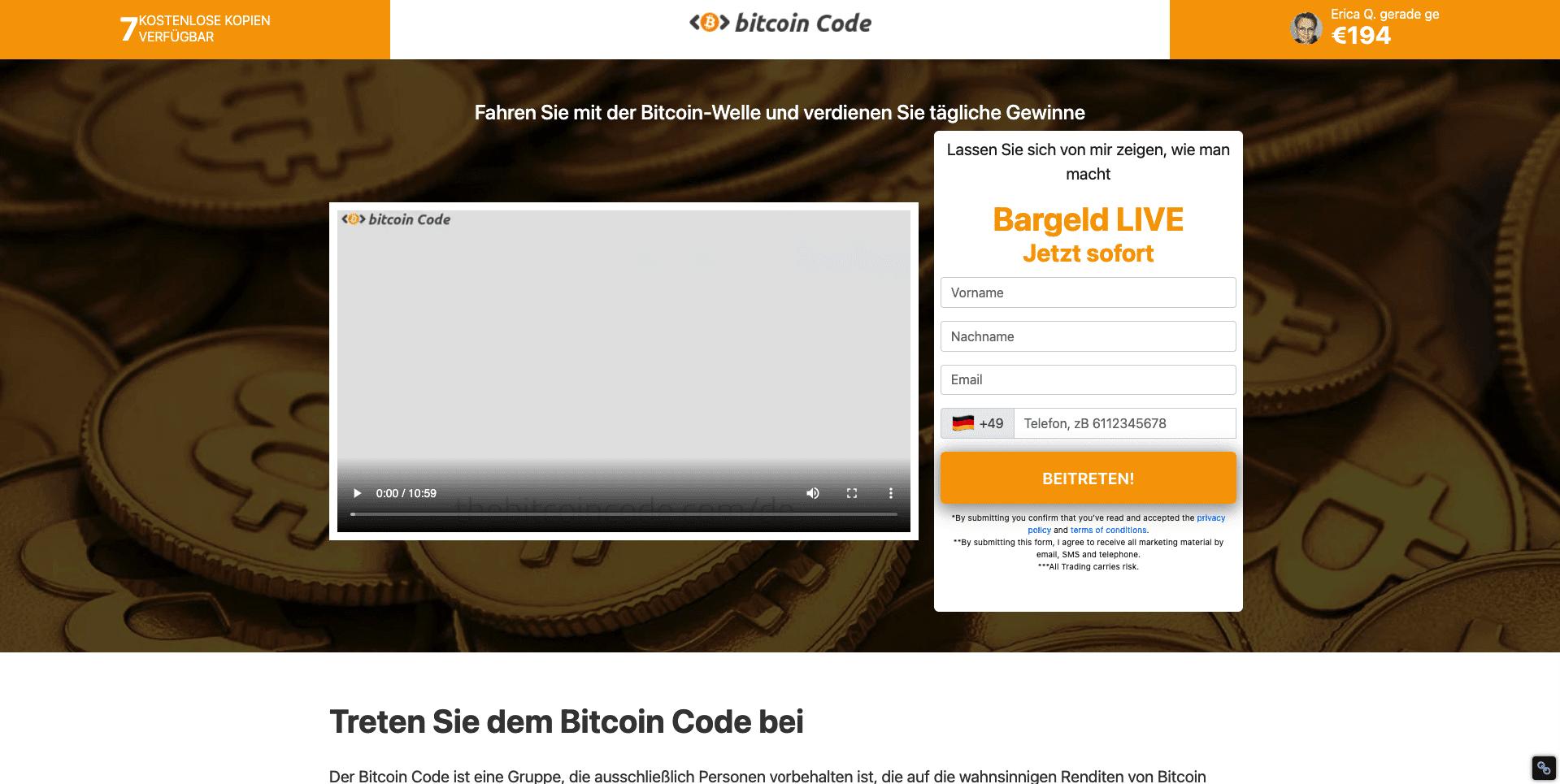 bitcoin investmentfonds erfahrungen mit bitcoin code