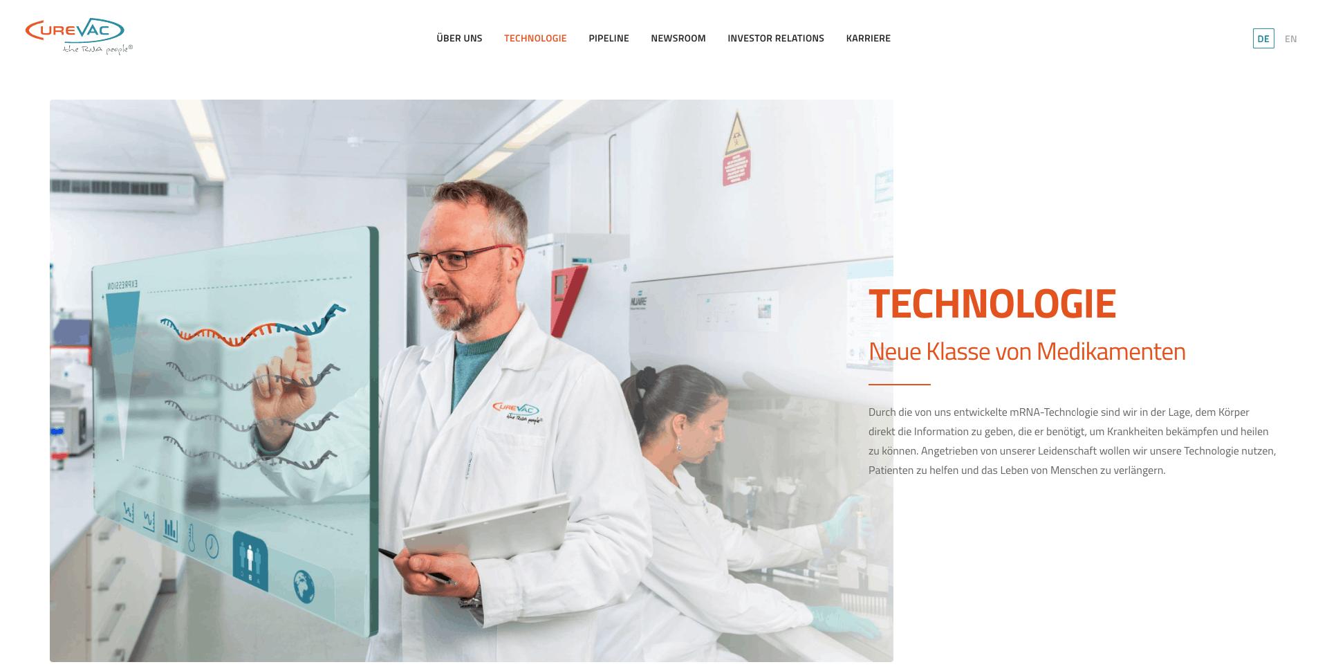 Curevac technologie