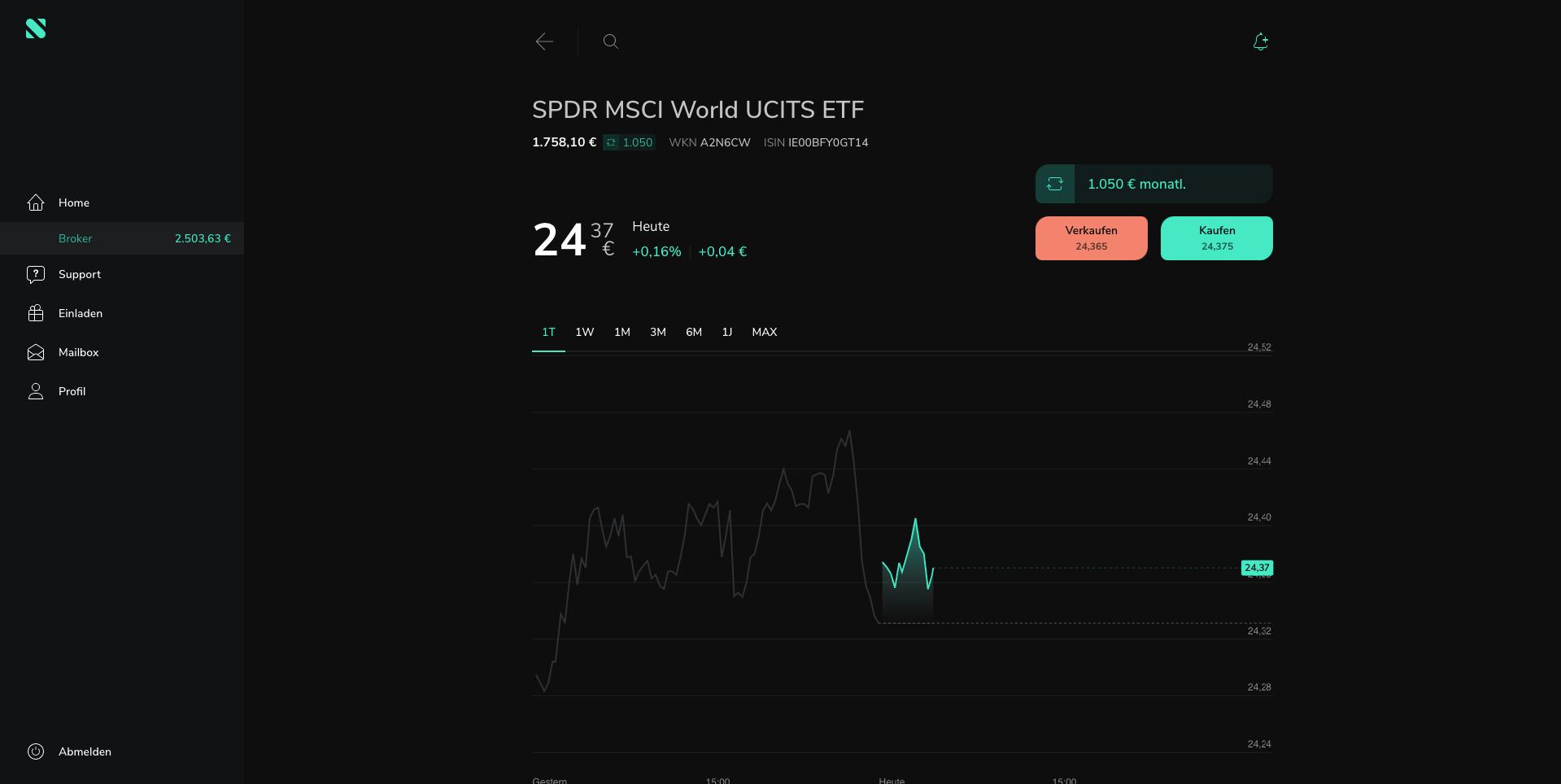 Scalable Capital Handel
