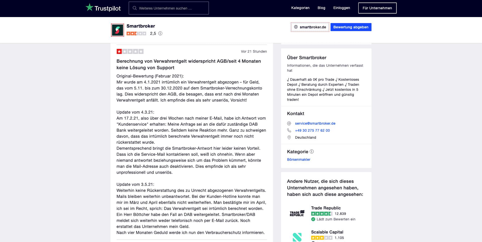 Smartbroker reviews