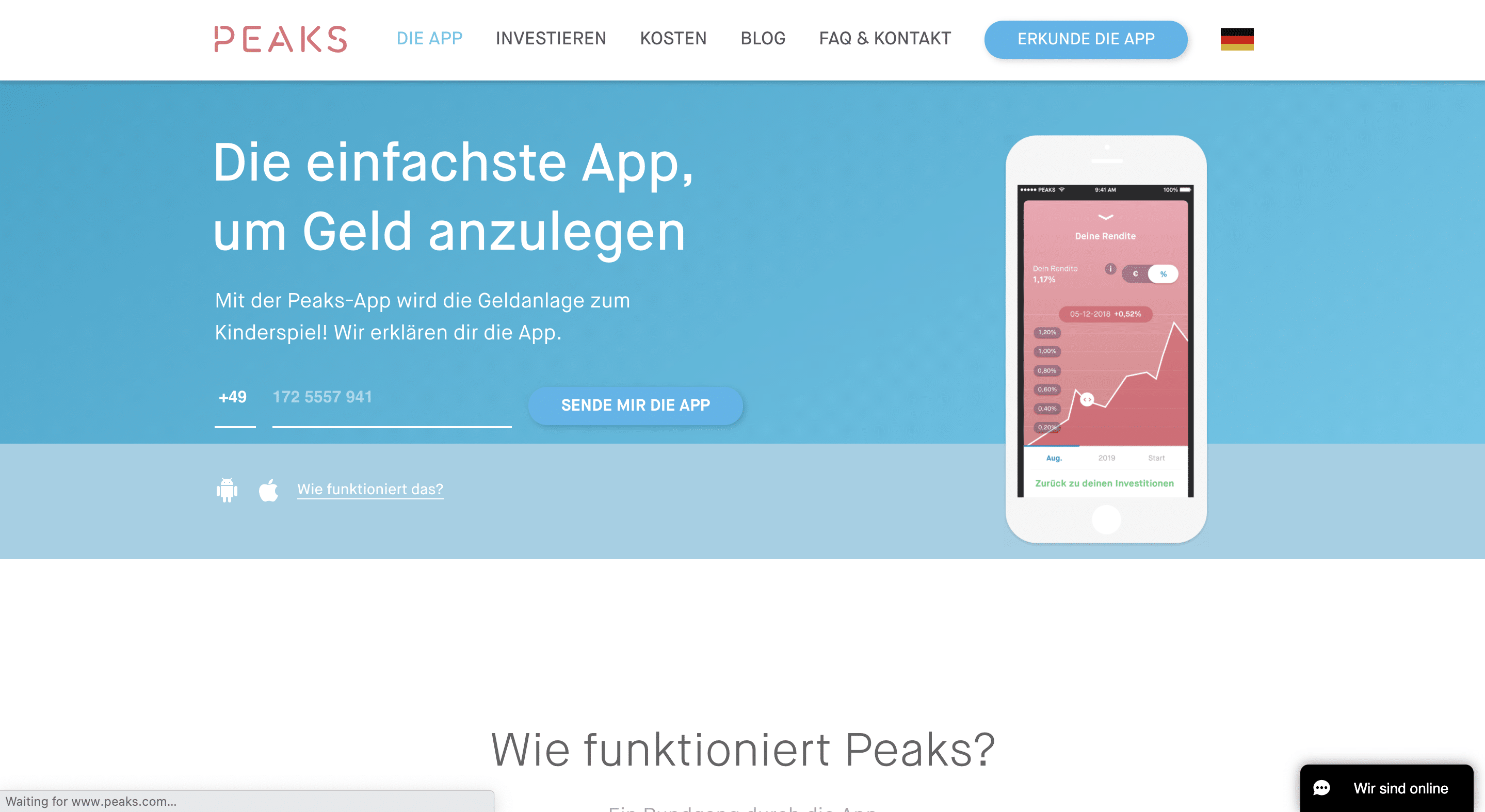 Peaks app herunterladen