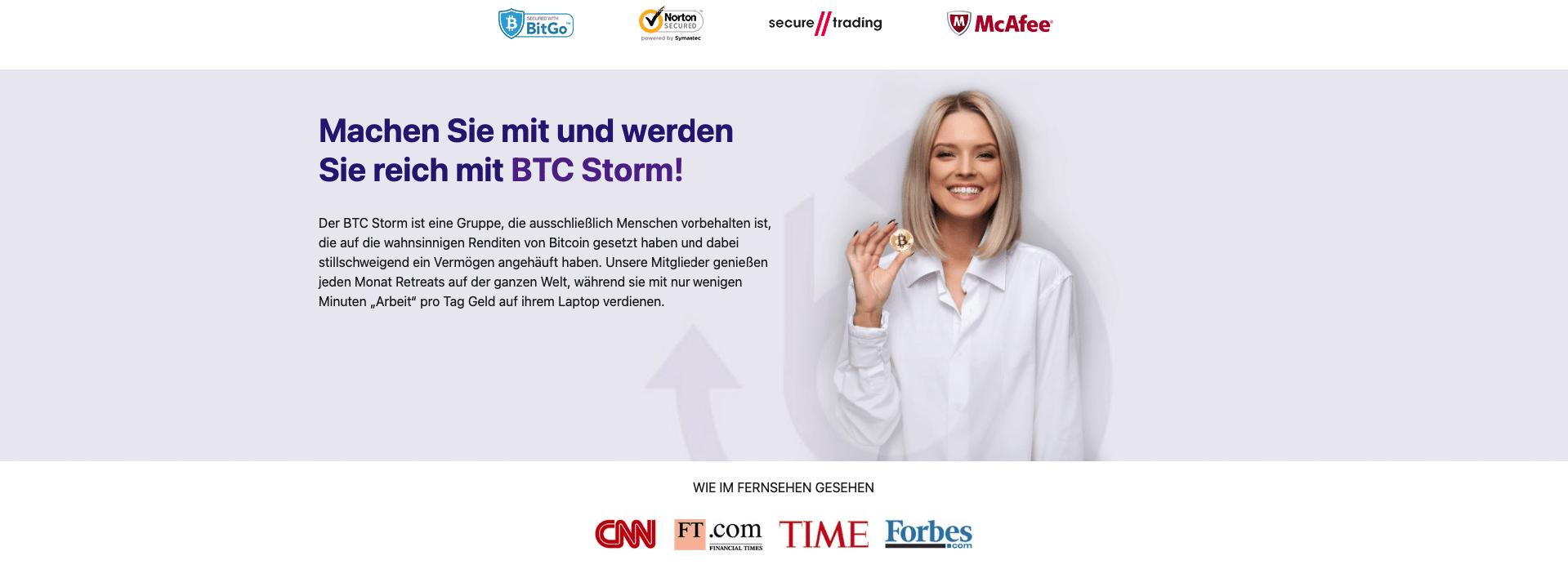 Über Bitcoin storm