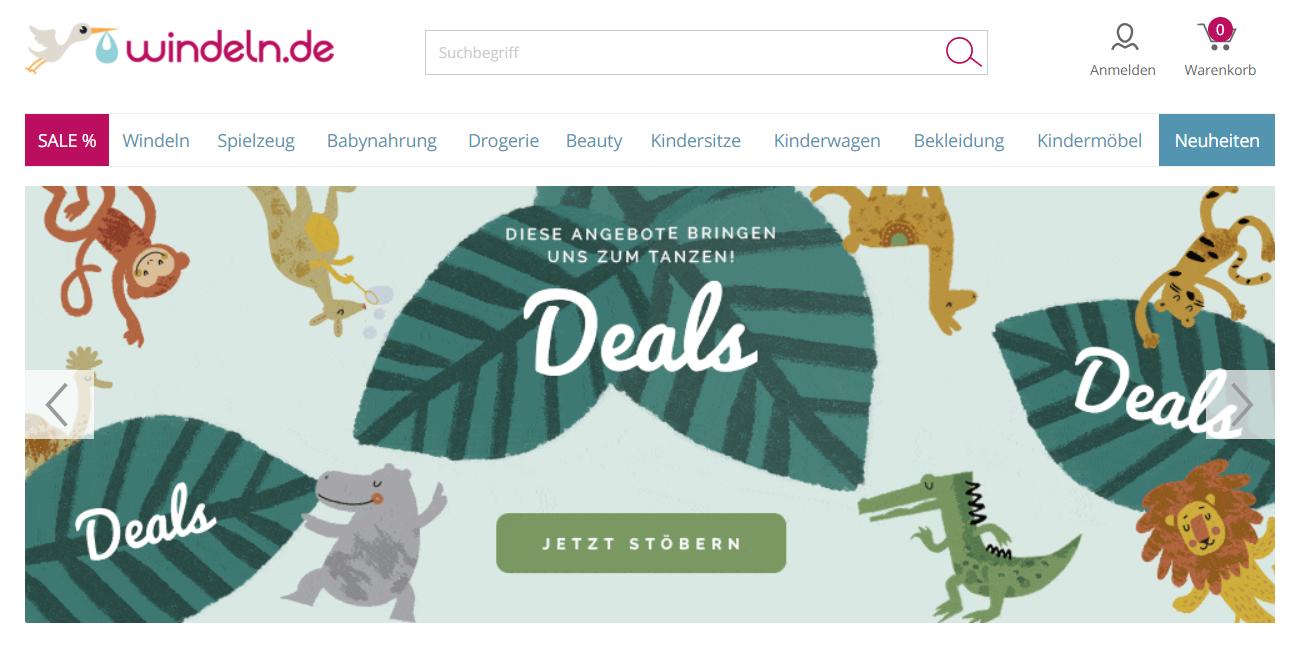 Windeln.de Webseite
