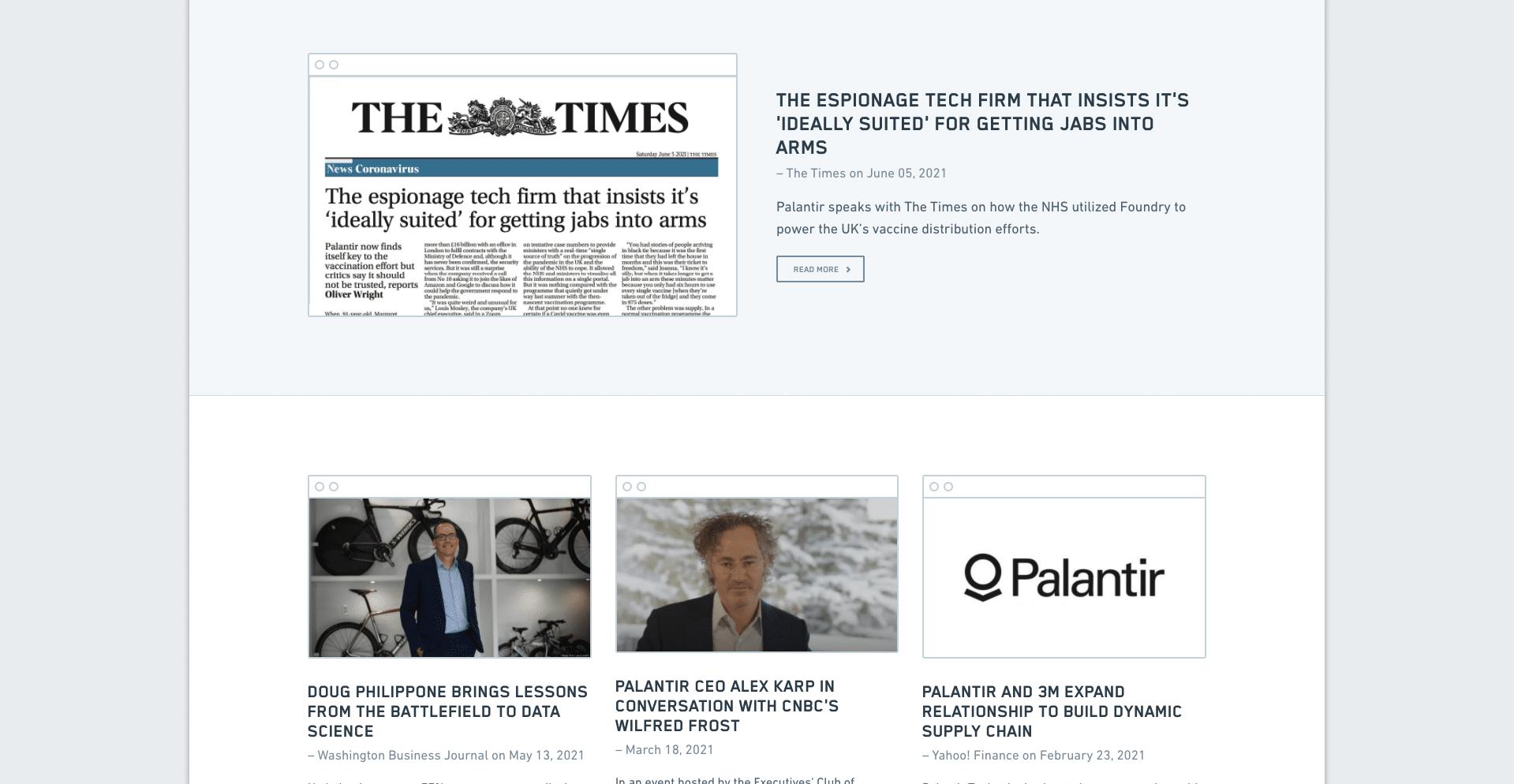 palantir news