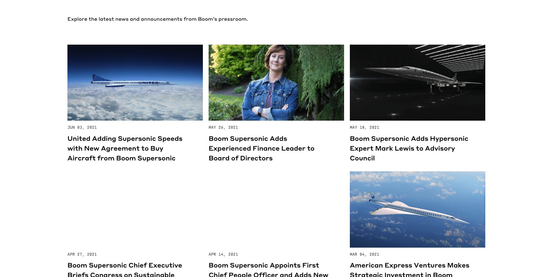 Boom supersonic news