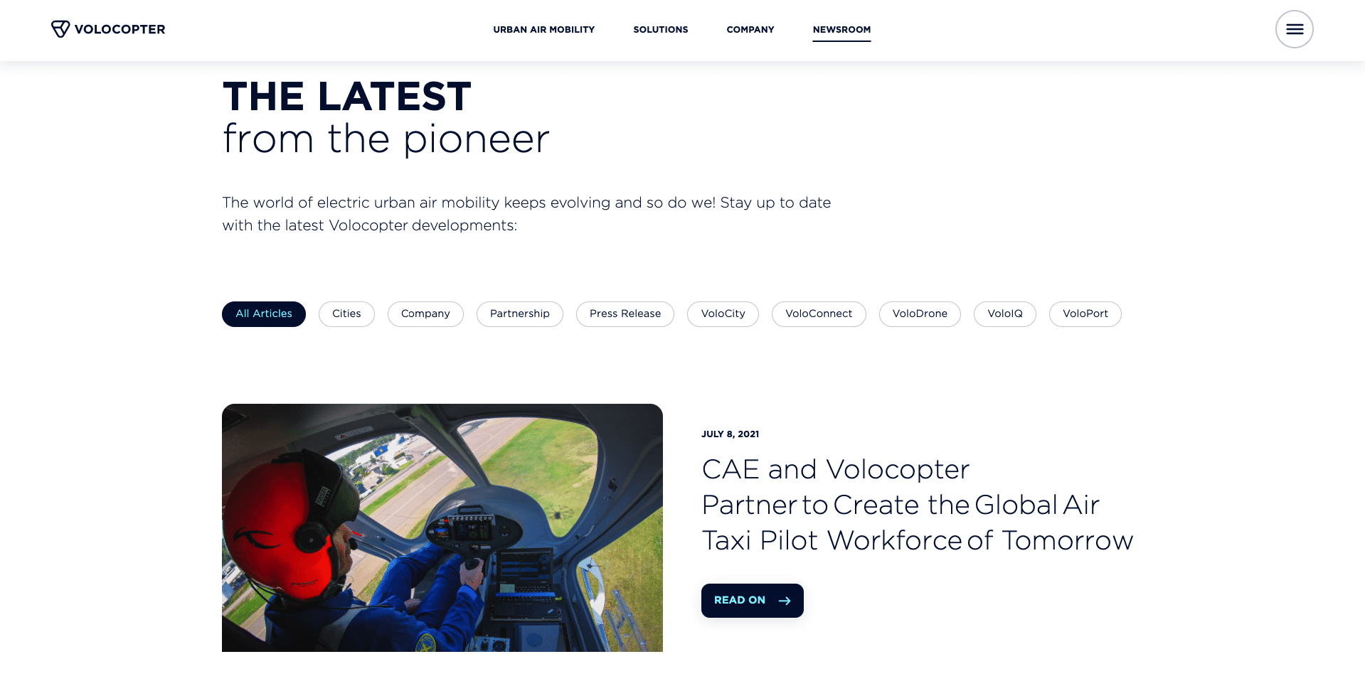 Volocopter news