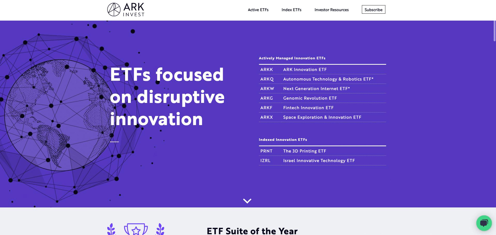 ark innovation etfs