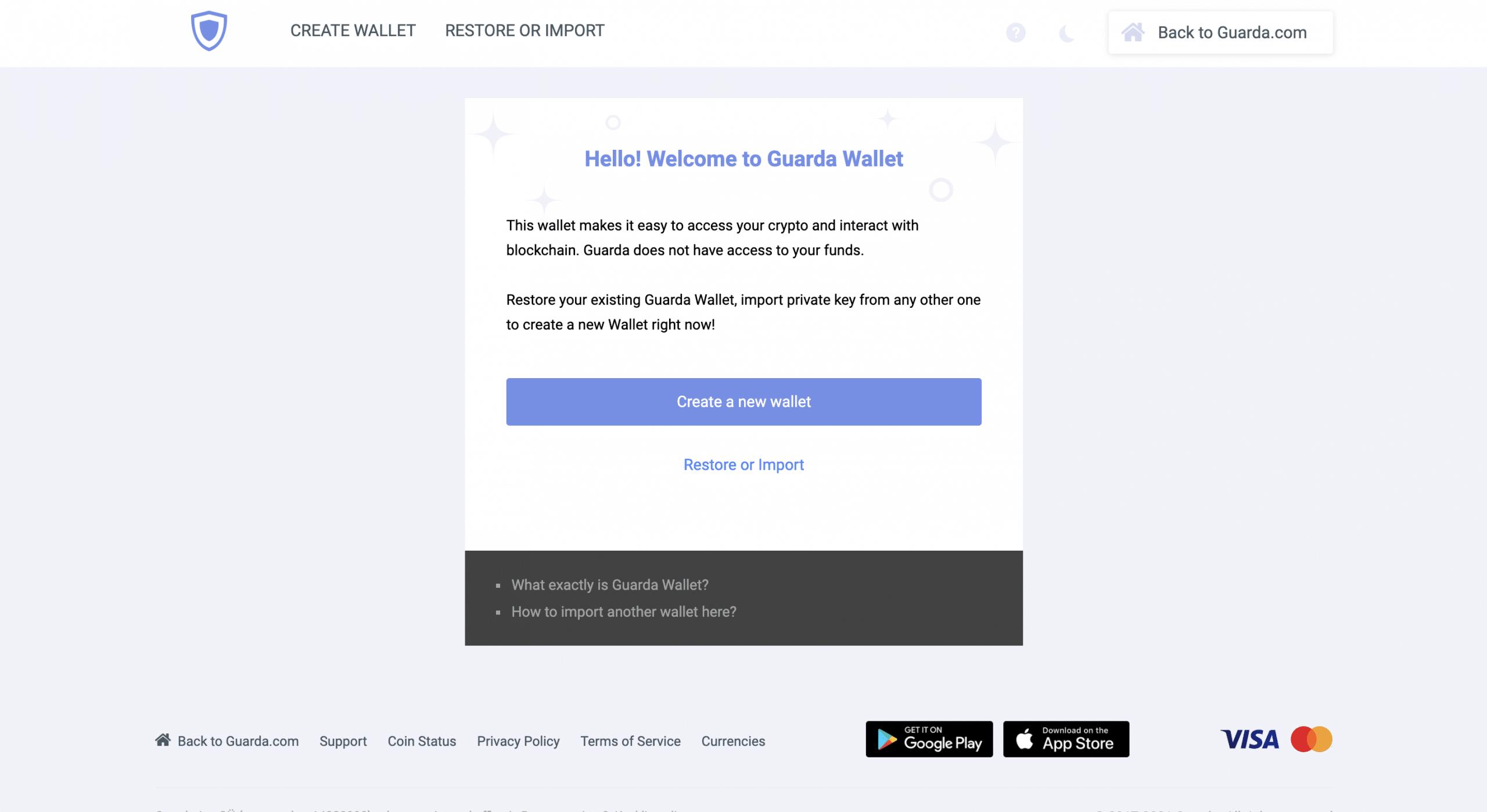 Guarda wallet anmeldung