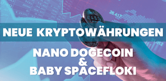 Neue Kryptowährungen Nano Dogecoin und Baby Spacefloki auf 1.000%-Rallye – jetzt einsteigen?