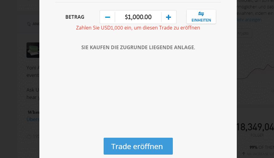 tether kaufen etoro