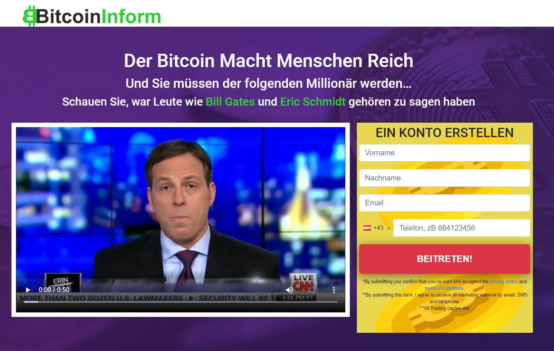 Bitcoin Inform Webseite