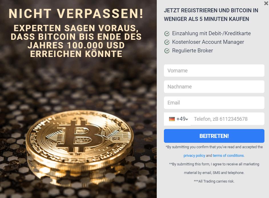 Bitcoin Treasure Registrierung
